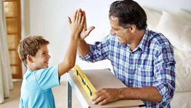 Praising a child