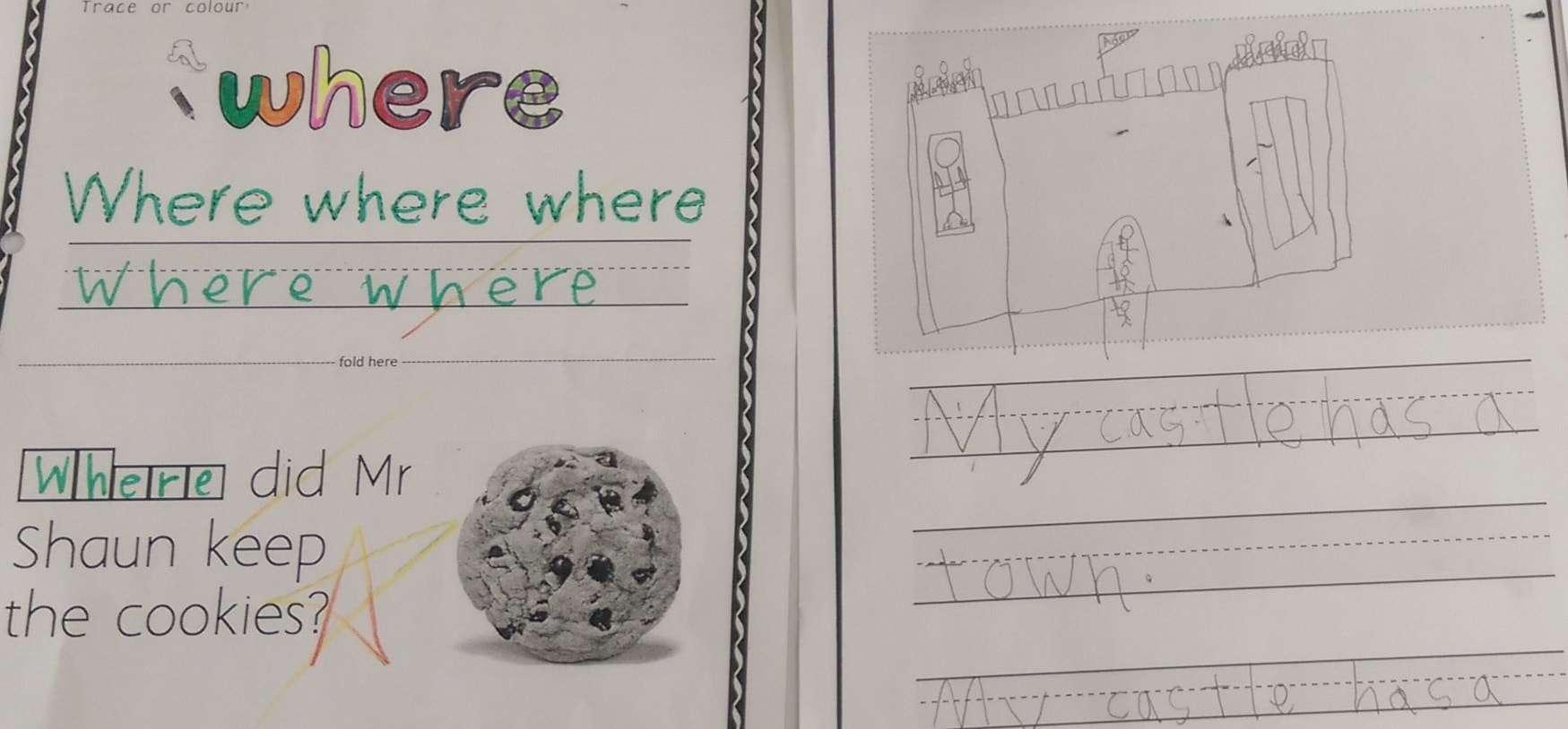 where sight word worksheet