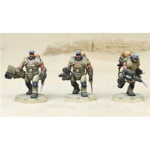 DUST 1947: Desert Scorpions Heavy Engineer Squad - Primed Edition