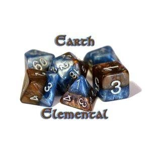 """""""Earth Elemental"""" Halfsies - 7-Die Set"""