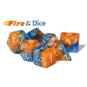 """""""Fire & Dice"""" Halfsies - 7-Die Set"""