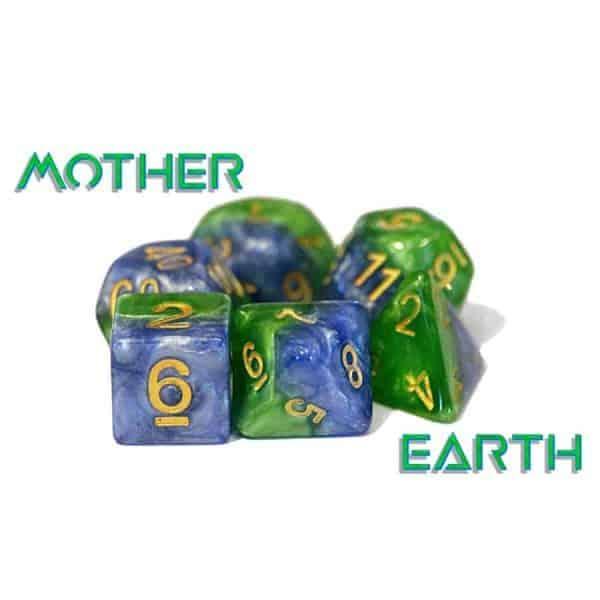 """""""Mother Earth"""" Halfsies - 7-Die Set"""