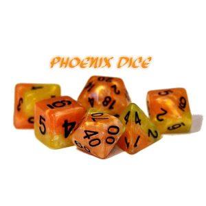 """""""Phoenix Dice"""" Halfsies - 7-Die Set"""