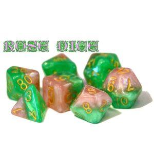 """""""Rose Dice"""" Halfsies - 7-Die Set"""
