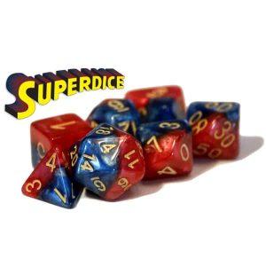 """""""Superdice"""" Halfsies - 7-Die Set"""